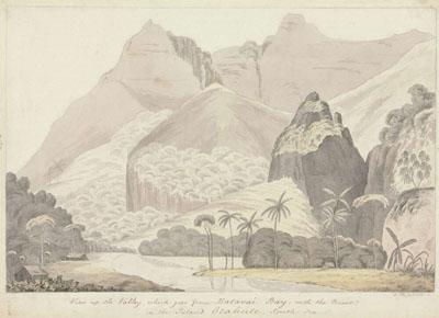 Vue de la vallée de la baie de Matavai (1777)