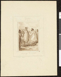 Taiti, voyage de Cook (1823)