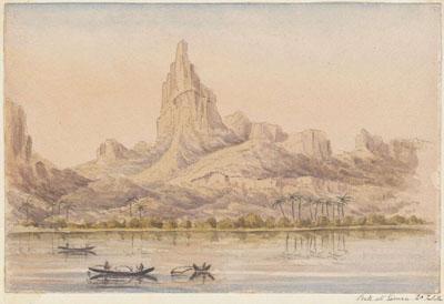 Peak at Eimeo (1865)