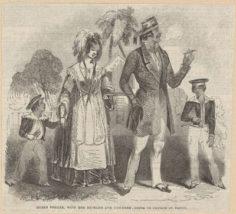 Reine Pomare et son mari allant à l'église (1844)
