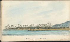 Pointe Vénus à Tahiti (1850)