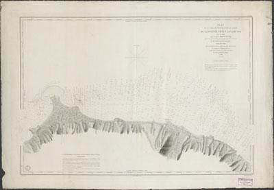 Plan de la cote septentrionale de Tahiti de la Pointe Venus a Faarumai (1852)