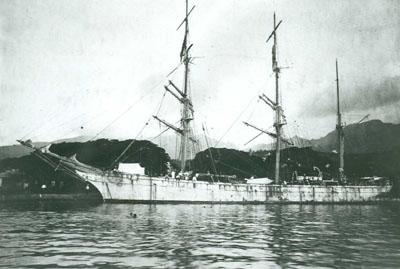 Navire Ingrid à Papeete (1911)