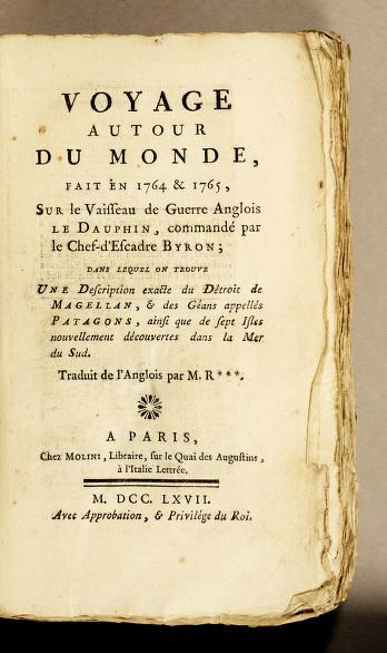 Voyage autour du Monde de Byron (1767)