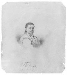 Le chef tahitien Otore – Carnet de croquis de McGuire (1839)