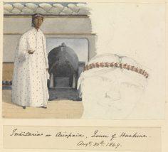 Teriitaria ou Ariapaia, reine de Huahine – Sir Edward Gennys Fanshawe – 30 août 1849