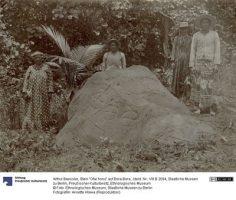 Pétroglyphes Ofai honu à Bora Bora – Photographie de Arthur Baessler (1896)