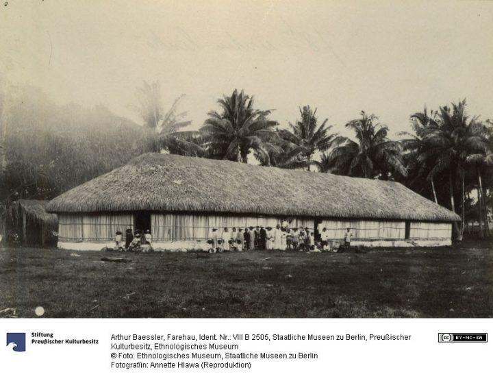 Fare hau de Punaauia – Photographie de Arthur Baessler (1896-1898)