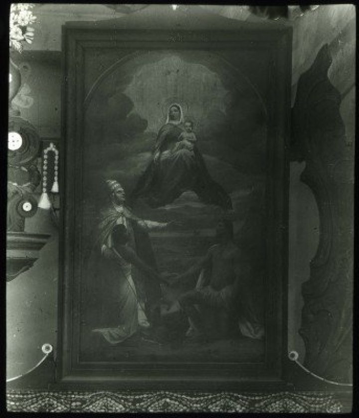 Peinture religieuse provenant d'une église de Mangareva (1921-1923)