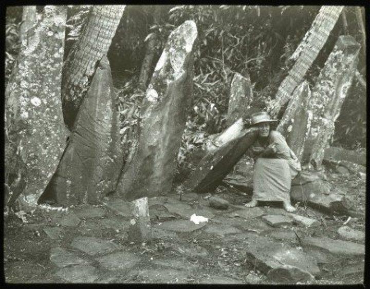 Pierres dressées d'un marae de Raivavae (1921-1923)