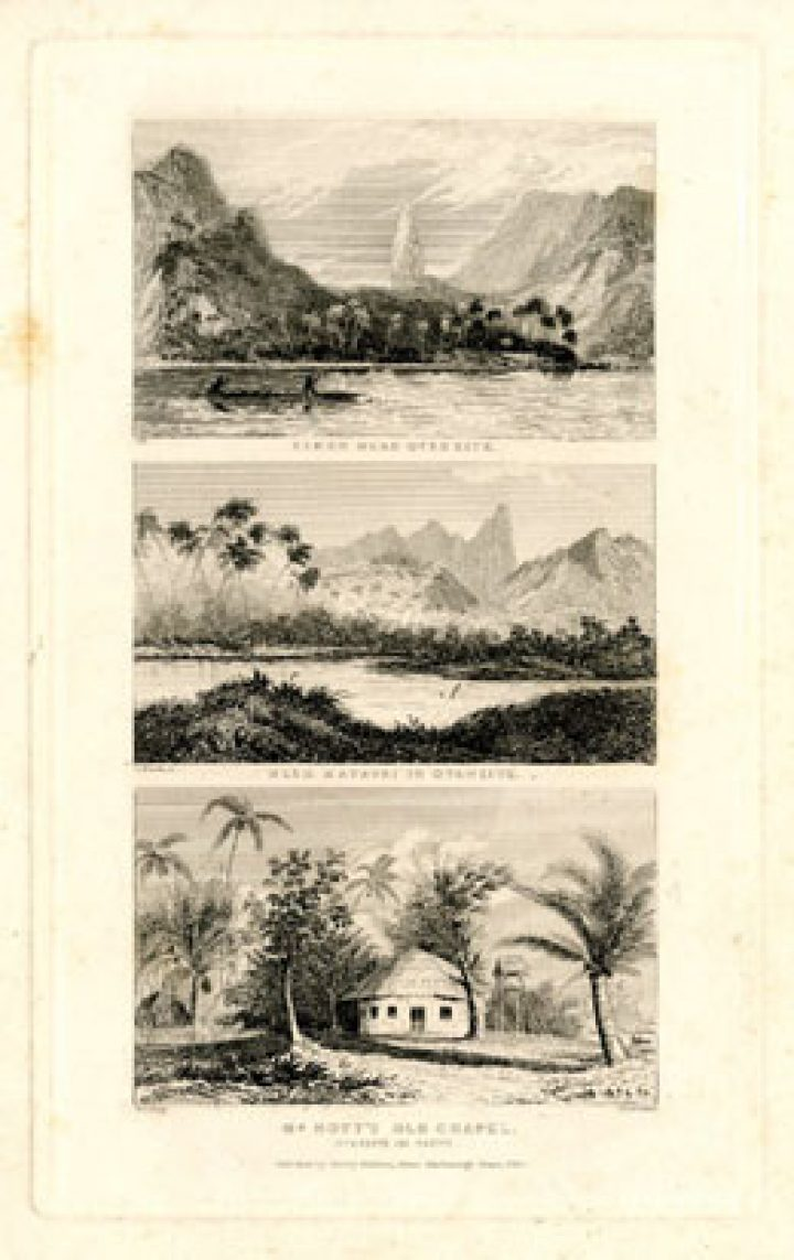 Eimeo near Otaheite, near Matavai in Otaheite, Mr Nott's old Chapel (1838)