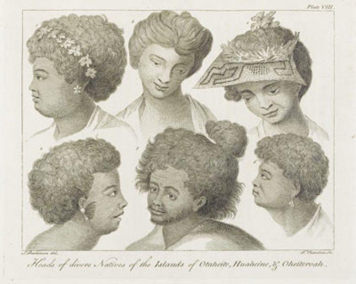 Visages des natifs de Tahiti, Huahine et Raiatea (1784)