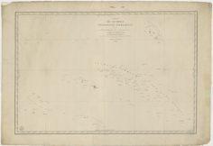 Carte des archipels Taïti, Pomotou, Nouka-Hiva & … (1843)