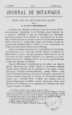 Note sur quelques plantes rares ou peu connues de Tahiti – 1ère partie (1897)
