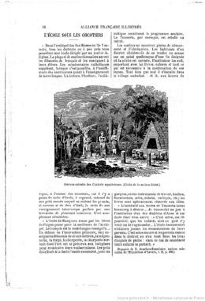 L'Alliance française illustrée – L'école sous les cocotiers (1894)