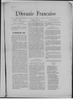 L'Océanie française du 23 septembre 1884