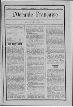 L'Océanie française du 4 mars 1903 – Ouragan aux Tuamotu