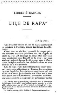 Terres étranges – L'île de Rapa (1901)