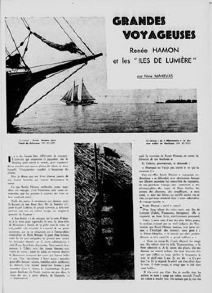 """Renée Hamon et les """"îles de lumière"""" (1940)"""