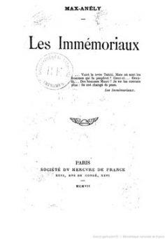 Les immémoriaux (1907)