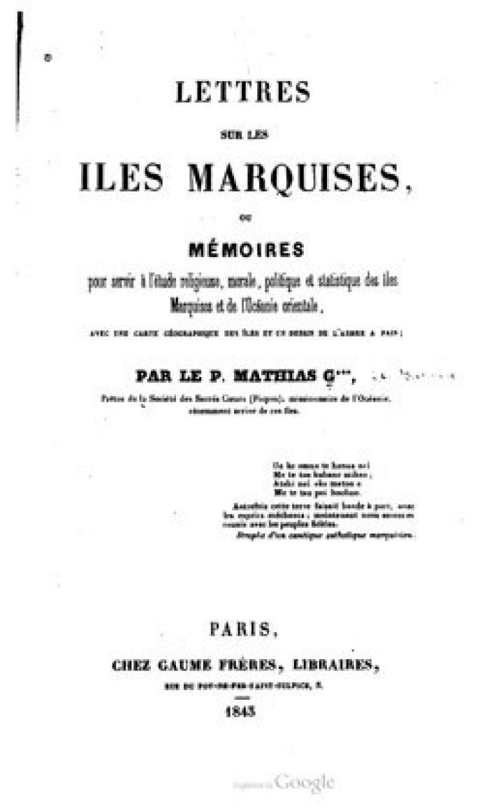 Lettres sur les îles Marquises  (1843)