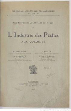 L'industrie des pêches dans les Etablissements français de l'Océanie (1906)