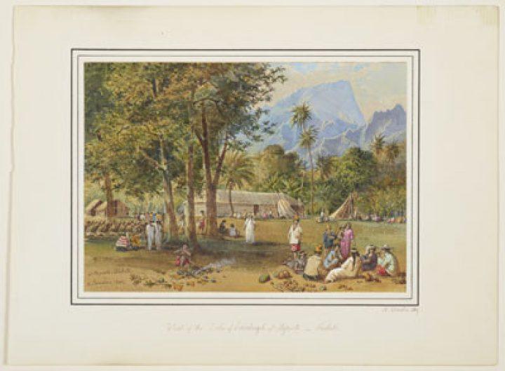 Visite du Duc d'Edinburgh à Papeete – Tahiti – Nicholas Chevalier (1869)