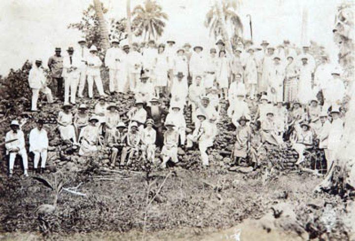 Marae Arahurahu lors de la Fête du Folklore du 9 septembre 1926