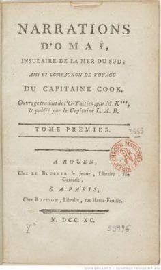 Narrations d'Omaï, insulaire de la mer du Sud – Septième narration : Ooroo (1790)