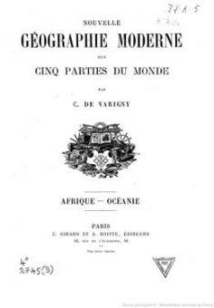 Nouvelle géographie moderne des cinq parties du monde – Volume V – Afrique-Océanie (1890)