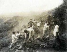 Construction d'une route à Sainte-Amélie – Papeete (1912)