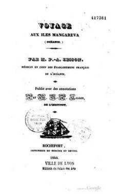Voyage aux îles Mangareva – Océanie (1844)