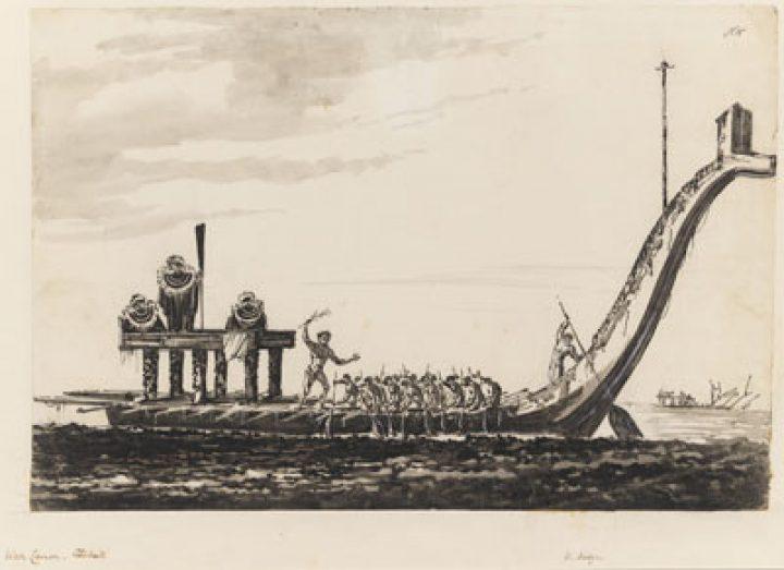 Pirogue de guerre, Otaheite (1772-1775)