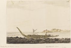 Resolution Bay aux îles Marquises – William Hodges (1774)