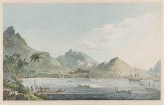 Une vue de Huahine – John Webber (1778)