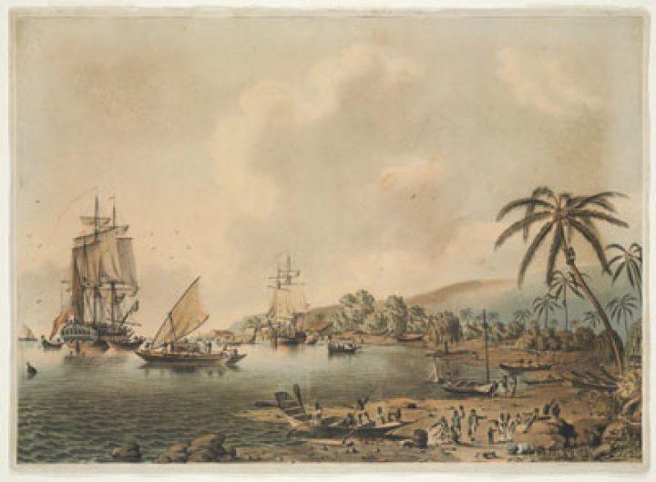 HMS Resolution et Discovery à Tahiti (1787)