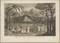 Cession de l'île d'OTahiti au capitaine Wallis par la reine Oberea (1773)