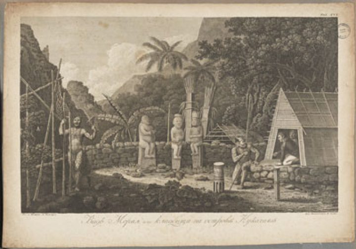 Moraï, cimetière sur l'île de Nuku Hiva (1803-1806)
