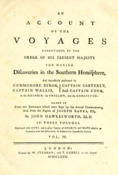 An account of the voyages undertaken by the order of His present Majesty for making discoveries in the Southern Hemisphere – Tomme III (1773)