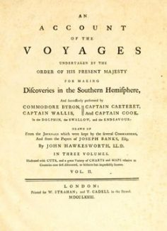 An account of the voyages undertaken by the order of His present Majesty for making discoveries in the Southern Hemisphere – Tome II (1773)