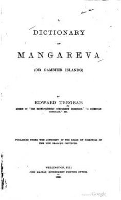 A dictionary of Mangareva (1899)