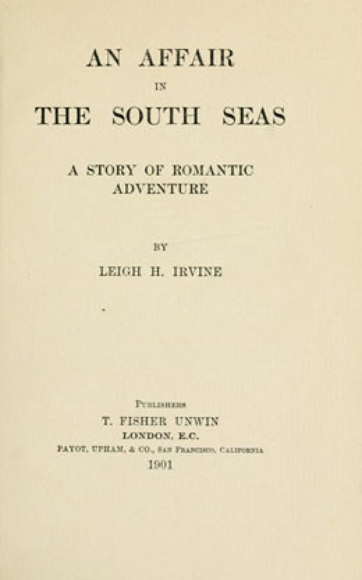 An affair in the South Seas : a story of romantic adventure (1901)