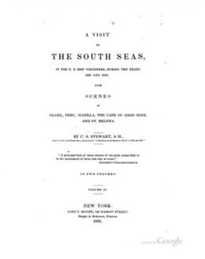 A Visit to the South Seas in the U.S. Ship Vincennes – Volume II (1831)