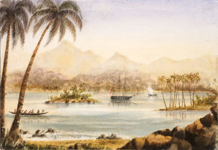 Baie de Cook – Eimeo (Moorea) près de Otahiti (1857/1858)