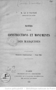 Notes sur les constructions et monuments des Marquises (1898)