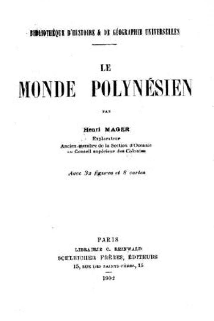 Le monde polynésien (1902)