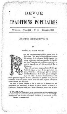 Légendes des paumotu – I (1905)