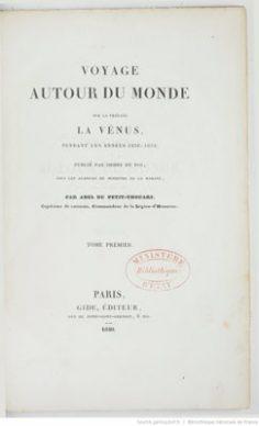Voyage autour du monde, pendant les années 1790, 1791 et 1792 par Étienne Marchand – Tome I (1790)