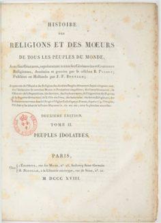 Histoire des religions et des mœurs – Tome II – Peuples idolâtres (1818)