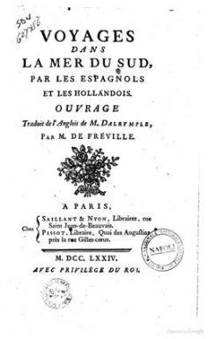 Voyages dans la mer du Sud par les espagnols et les hollandois (1774)